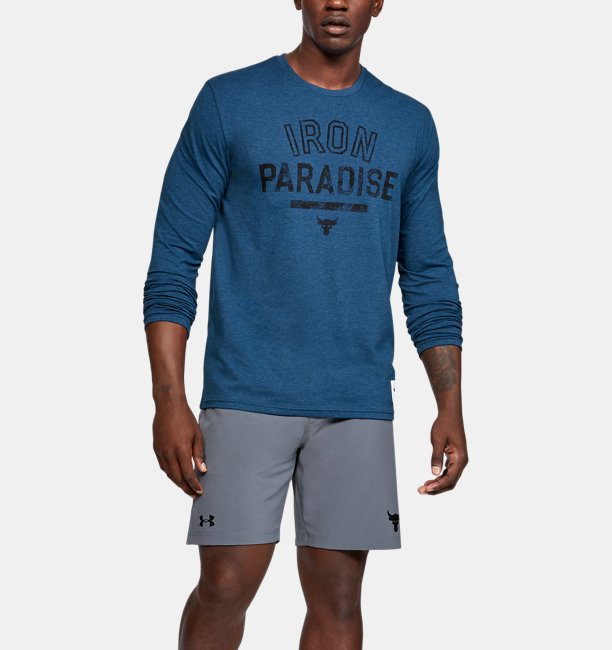 Mens Project Rock Iron Paradise Long Sleeve