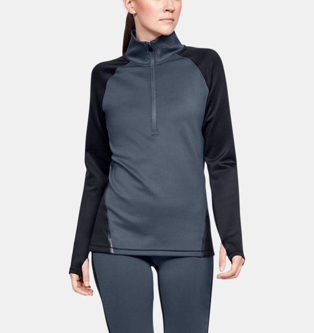 Sudadera de Medio Cierre ColdGear® Armour Color Block para Mujer