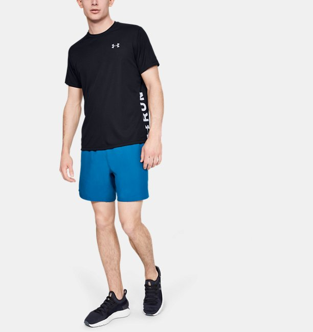 Mens UA Speed Stride Split Short Sleeve