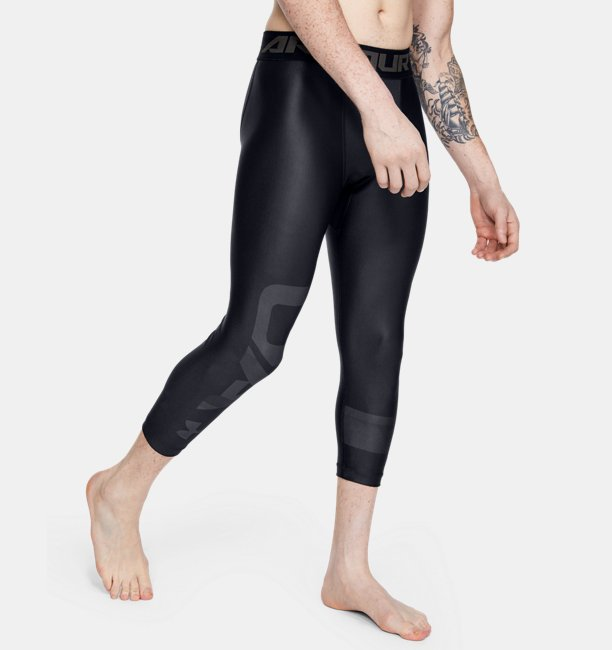Mens HeatGear® Armour Graphic 3/4 Leggings