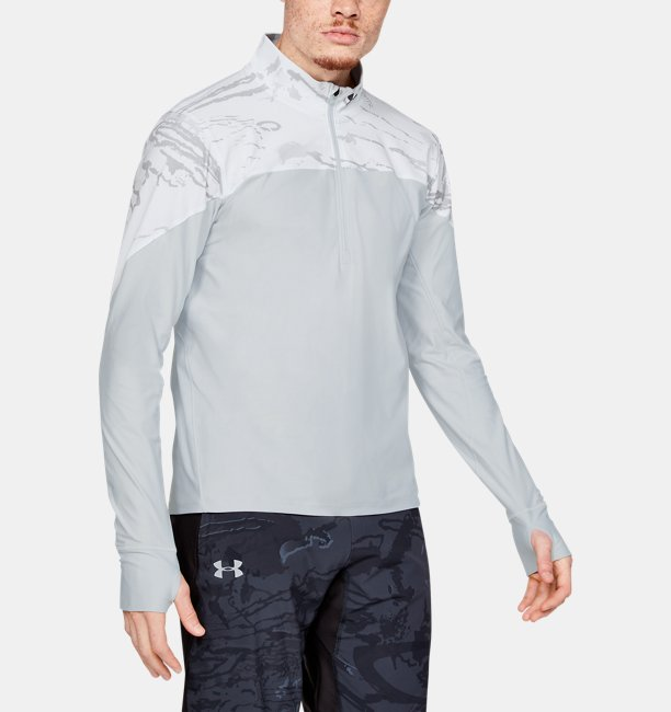 Mens UA Qualifier Camo ½ Zip