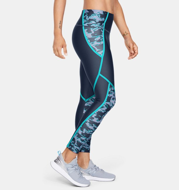 Womens HeatGear® Armour Edgelit Print Ankle Crop