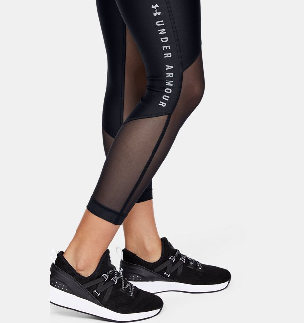 Womens HeatGear® Armour Mesh Graphic Ankle Crop