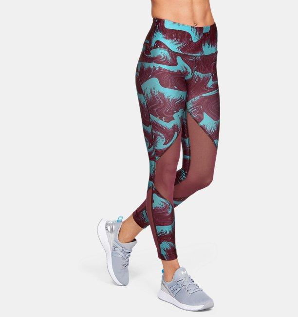 Dameslegging HeatGear® Armour Mesh Print Ankle Crop