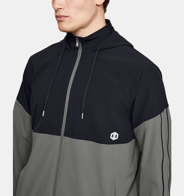 Mens UA Recover Woven Warm-Up Jacket