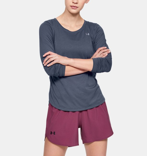 Womens UA Whisperlight Mesh Long Sleeve