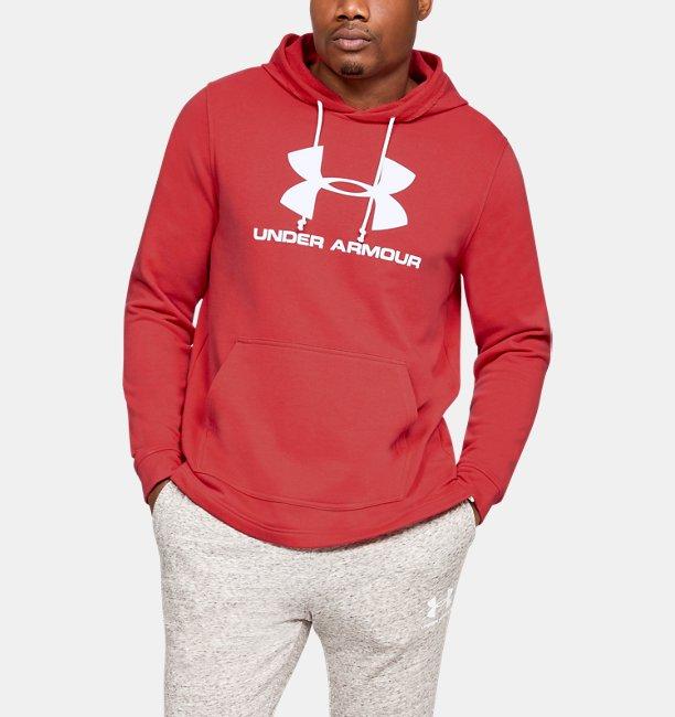 UAスポーツスタイル テリー ロゴフーディー(トレーニング/パーカー/MEN)