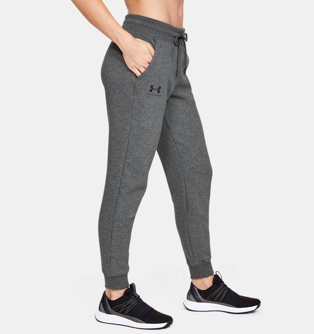 Womens UA Rival Fleece Sportstyle Graphic Trousers