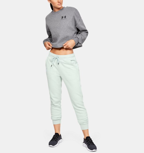 Womens UA Rival Fleece Sportstyle Graphic Pants