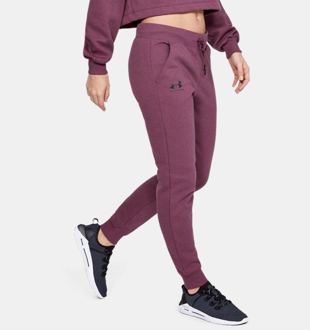Womens UA Rival Fleece Sportstyle Graphic Pants