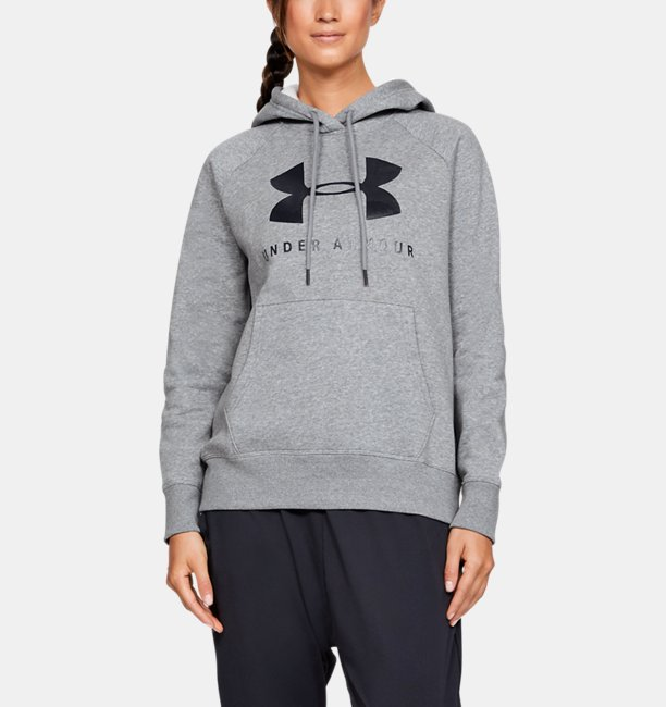 Womens UA Rival Fleece Sportstyle Graphic Hoodie