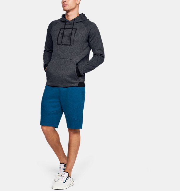 Mens UA Unstoppable Double Knit Logo Hoodie