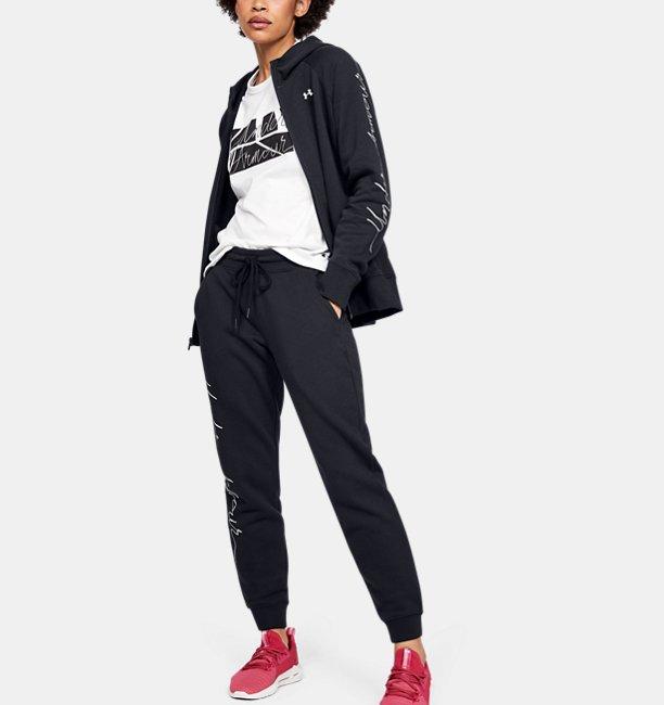 UAフィッティド キット フェイバリット フリース グラフィック スクリプト パンツ(トレーニング/WOMEN)