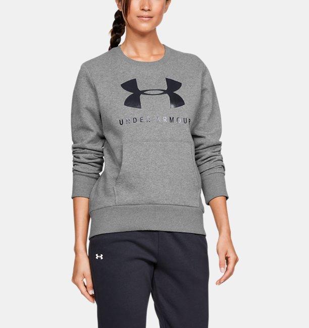 Polerón UA Favorite Fleece Sportstyle Graphic Crew para Mujer
