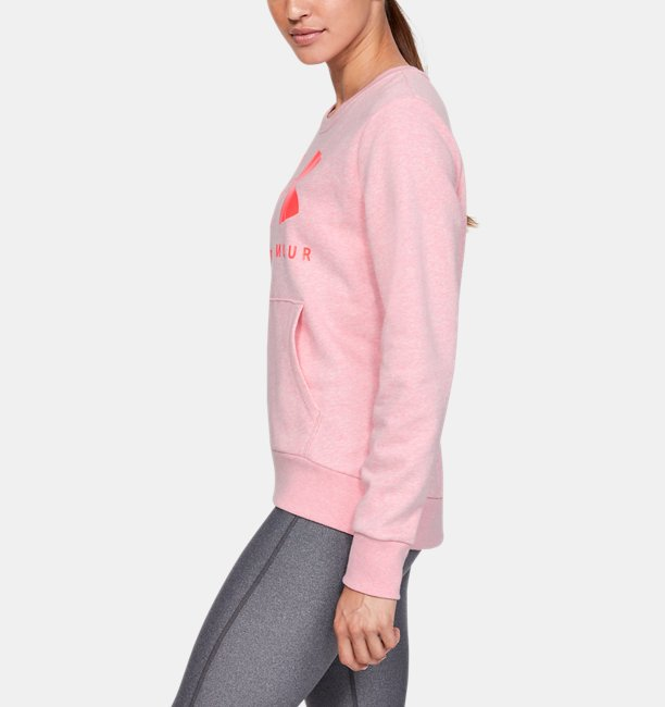 Sweater UA Favorite Fleece Sportstyle Graphic Crew para Mujer
