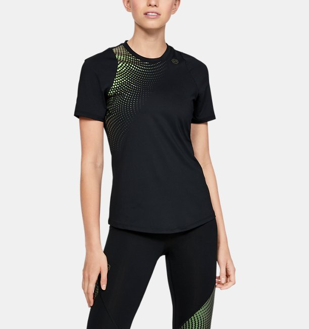 Womens UA RUSH™ Short Sleeve Hex Ombre Graphic