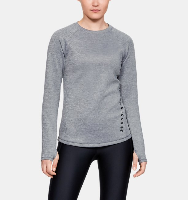 Polera manga larga ColdGear® Armour Heather para mujer