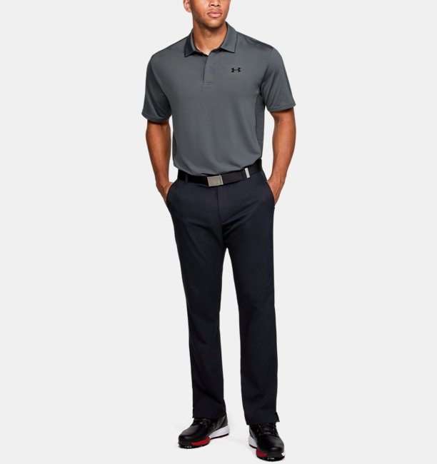 Mens UA Playoff 2.0 Blocked Polo