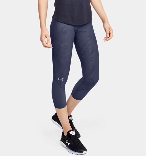 Womens UA Fly Fast Jacquard Crop
