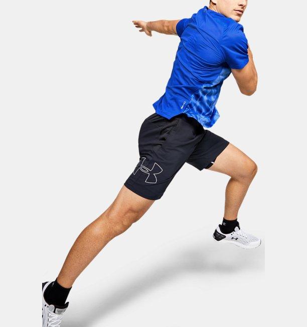 Mens UA Qualifier Iso-Chill Printed Run Short Sleeve