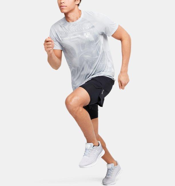 Mens UA Qualifier Iso-Chill Run Weightless Short Sleeve