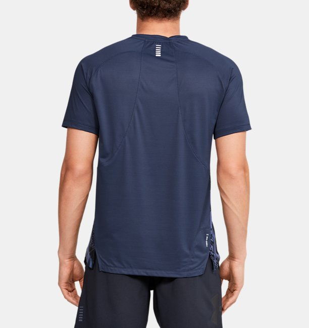 Herenshirt UA Qualifier Iso-Chill Run Weightless met korte mouwen
