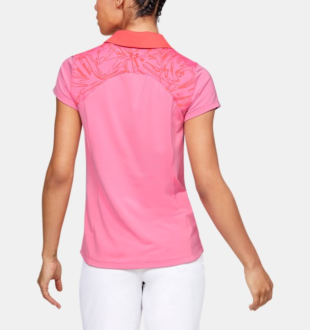 Womens UA Zinger Blocked Polo