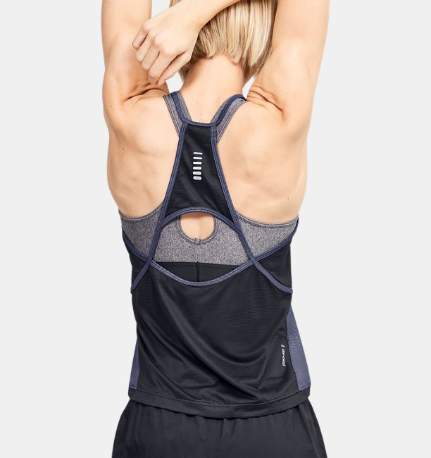Womens UA Qualifier Iso-Chill Embossed Tank