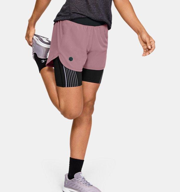 Womens UA RUSH™ Run 2-in-1 Shorts