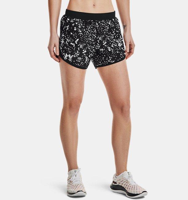 Womens UA Fly-By 2.0 Printed Shorts