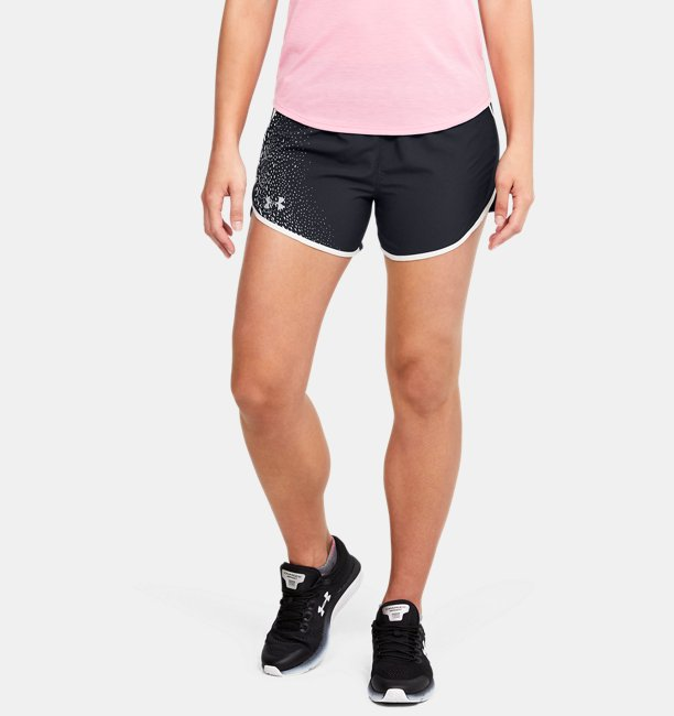 Womens UA Fly-By 2.0 Graphic Play Shorts