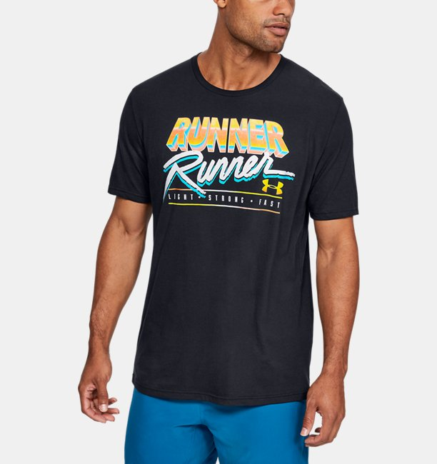 Mens UA Runner Runner Short Sleeve