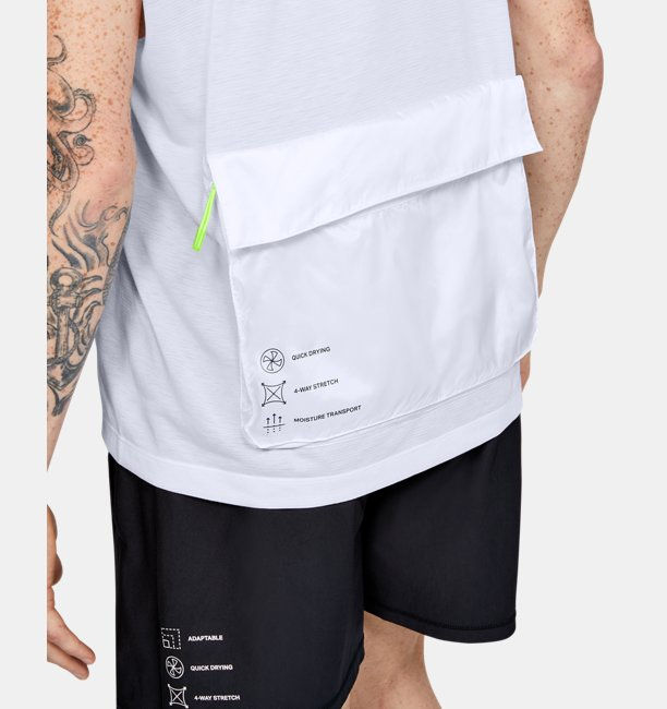 Mens UA Always On Sleeveless ½ Zip