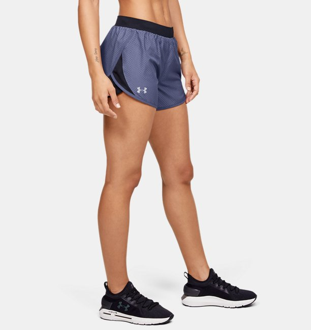 Womens UA Fly-By 2.0 Cire Perforated Shorts