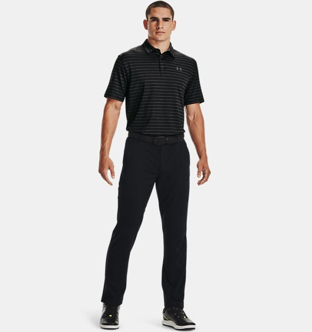 Mens UA Playoff Polo Core Stripe