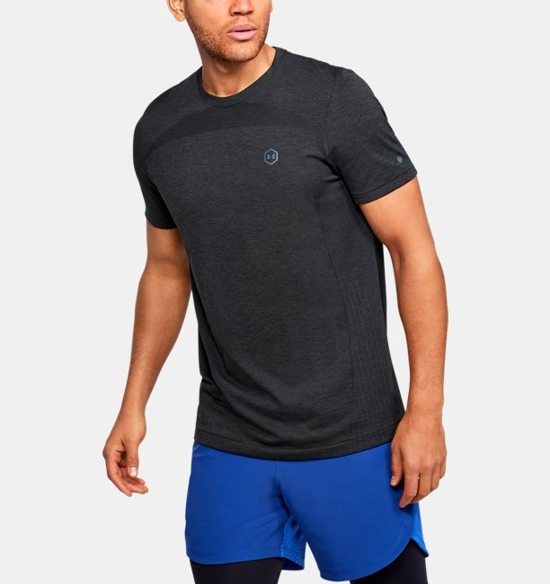 Playera Manga Corta UA RUSH™ Seamless Fitted para Hombre