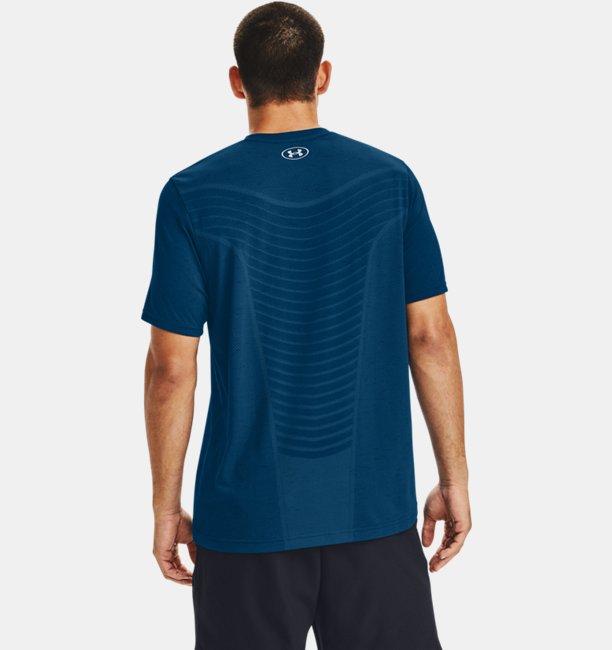 Mens UA Seamless Wave Short Sleeve