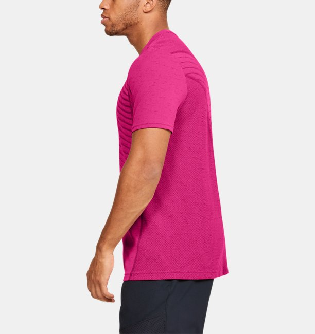 Mens UA Seamless Wave Short Sleeve