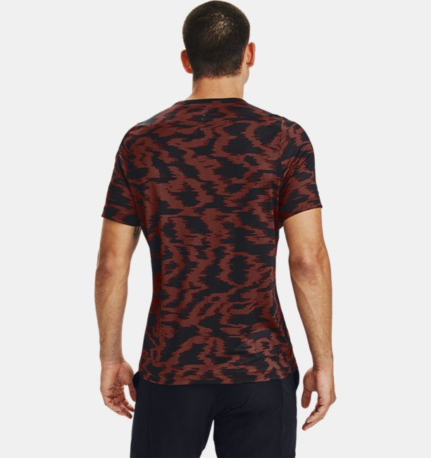 Mens UA RUSH™ HeatGear® Fitted Short Sleeve Printed