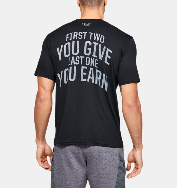 Camiseta de Treino Masculina Under Armour Project Rock BSR