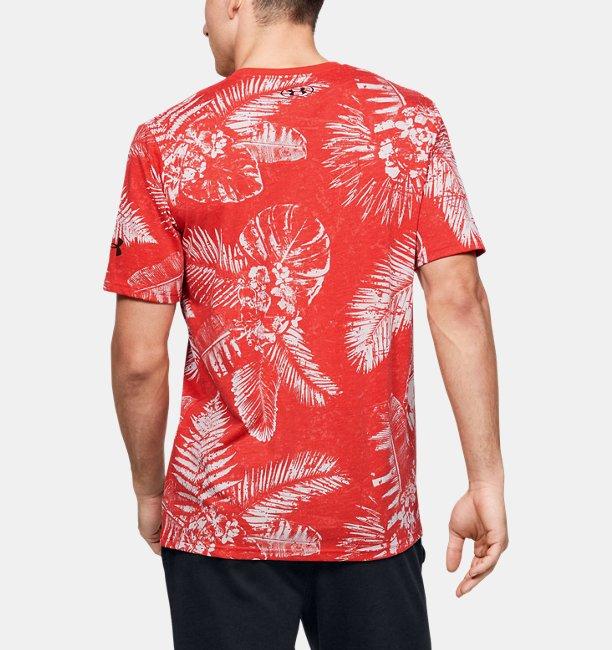 Mens Project Rock Aloha Camo Short Sleeve