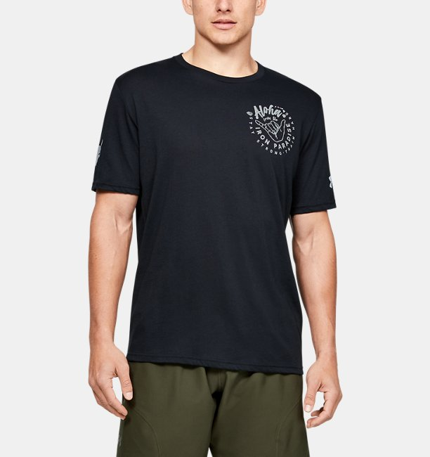 Mens Project Rock Iron Paradise Short Sleeve