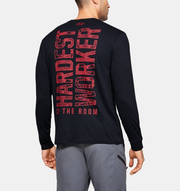 Mens Project Rock Hardest Worker Long Sleeve