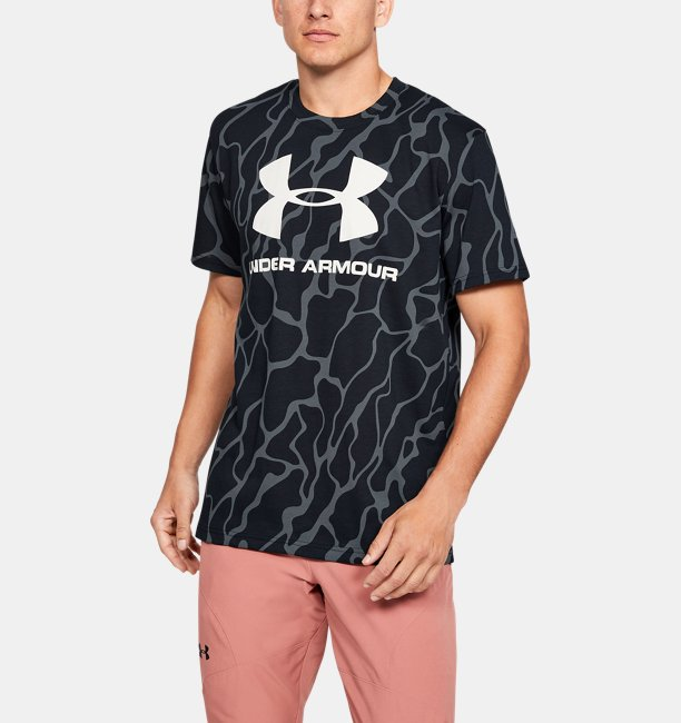 Mens UA Sportstyle Logo Printed Short Sleeve
