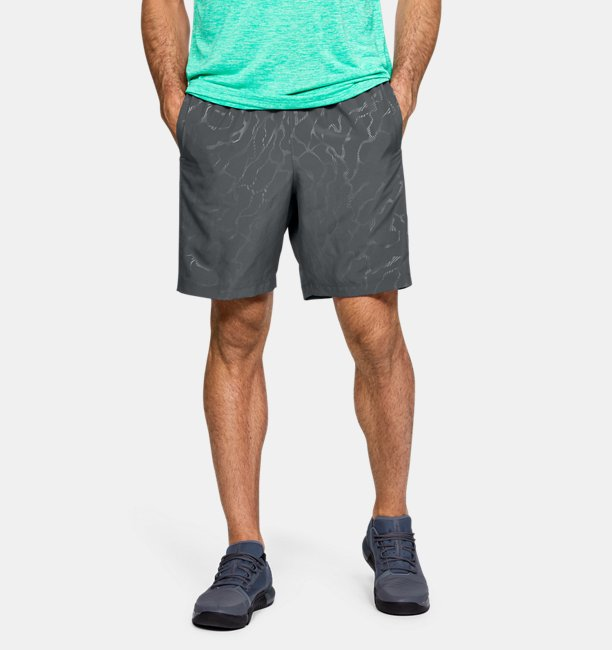 Mens UA Woven Graphic Emboss Shorts