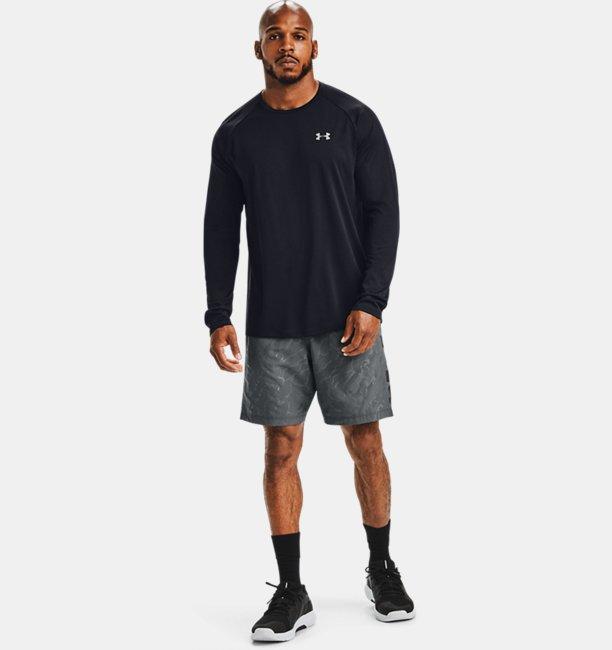 Mens UA Woven Graphic Emboss Shorts