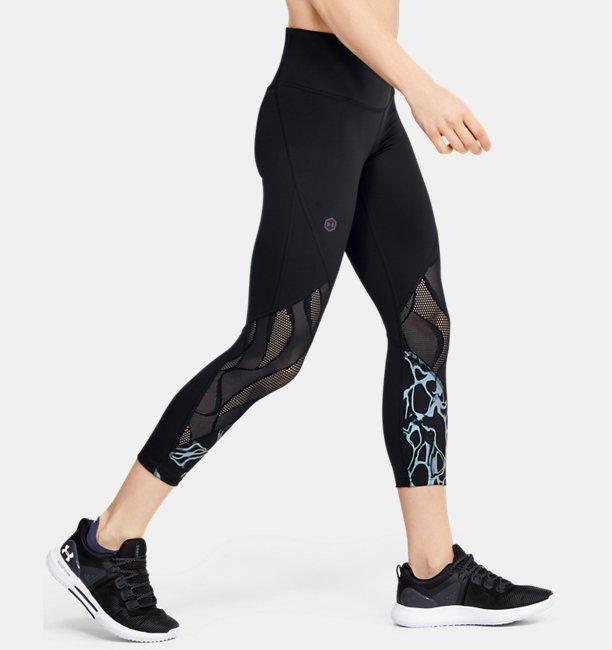 Damen UA RUSH™ Vent Crop-Hose mit schillernder Grafik