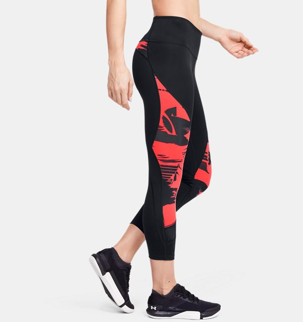 Womens UA Breathelux Stretch Blur Printed Crop