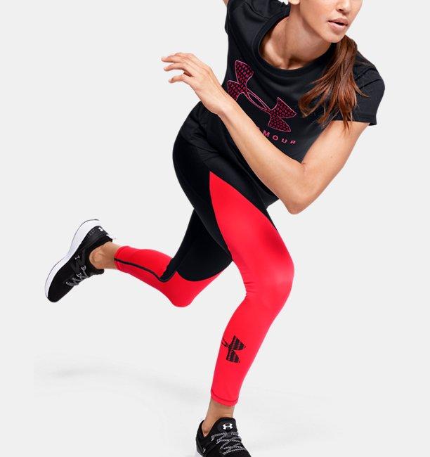 Damen UA Tech™ Kurzarm-Oberteil mit Rundhalsausschnitt und Logografik