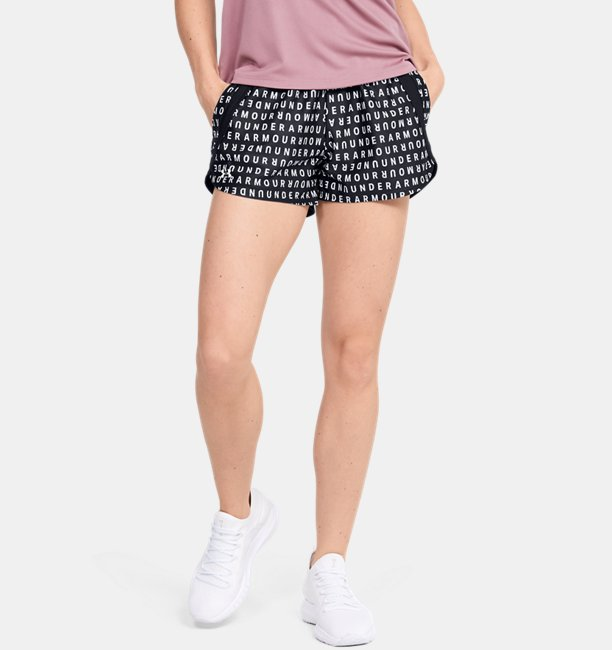 Damen UA Play Up 3.0 Shorts mit Druck